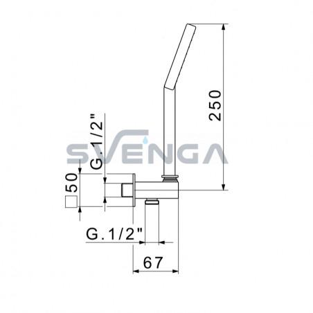 Flexdoccia Sandy 1206/ABS/822 dušo komplektas