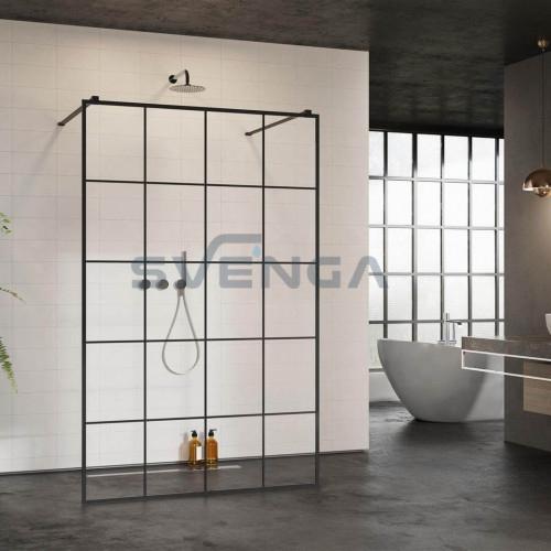 Radaway Modo New Black I Factory stabili dušo sienelė