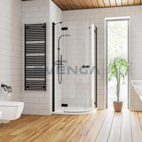 Radaway Essenza New Black PDD pusapvalė dušo kabina