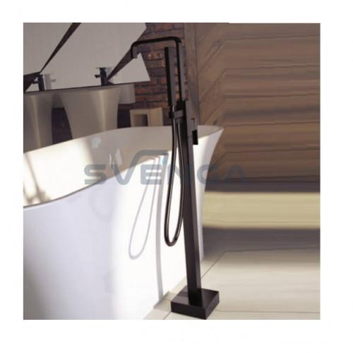 Besco Modern vonios maišytuvas iš grindų chromuotas arba juodos matinės spalvos