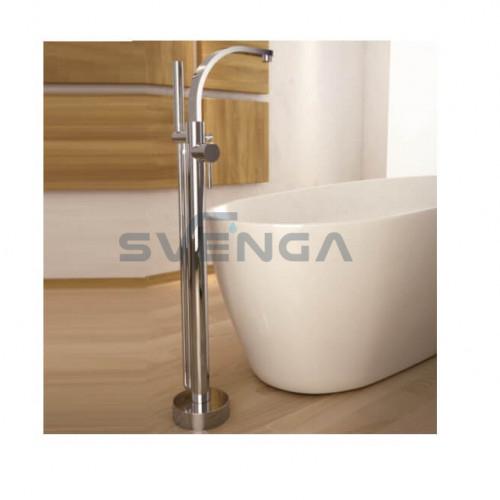 Besco Decco vonios maišytuvas iš grindų chromuotas arba juodos matinės spalvos