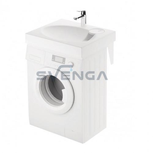 PAA CLARO MINI akmens masės montuojamas virš skalbimo mašinos praustuvas 600x500 mm