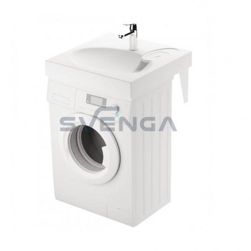 PAA CLARO akmens masės montuojamas virš skalbimo mašinos praustuvas 600x600 mm