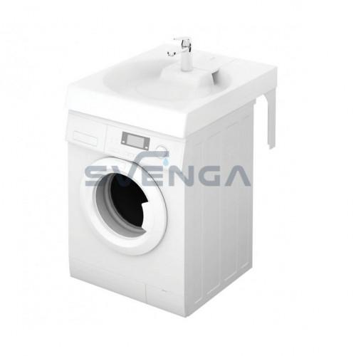 PAA CLARO Grande akmens masės montuojamas virš skalbimo mašinos praustuvas 750x600 mm