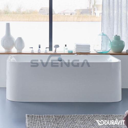 Duravit Happy D.2 akrilinė glaudžiama prie sienos vonia 1800x800 mm
