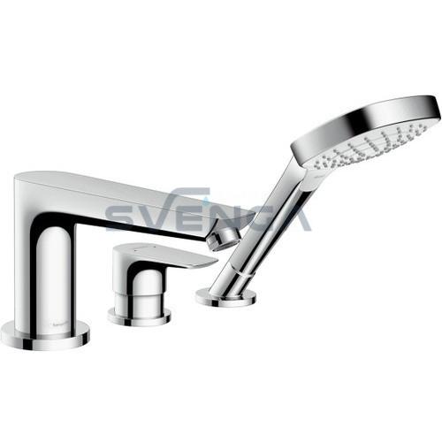 Hansgrohe Talis E įgręžiamas 3 dalių vonios maišytuvas su apatine dalimi