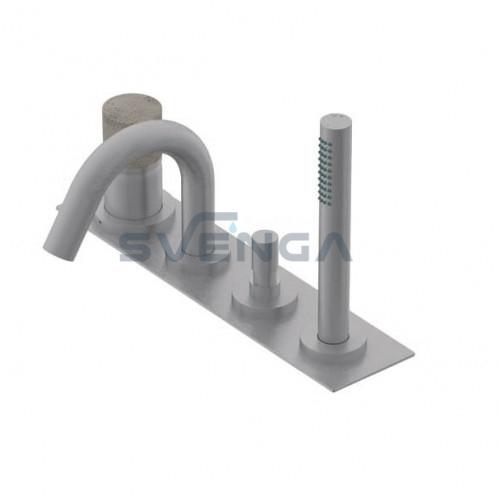 Ritmonio Diametro35 Inox Concrete E0BA0432ICM įmontuojamas į vonios kraštą maišytuvas 4 dalių