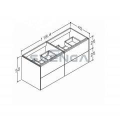 Kamė D-Line 118 keturių stalčių spintelė