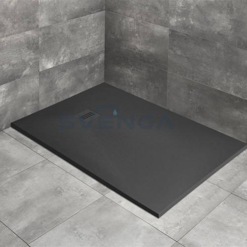 Radaway Kyntos F Anthracite kvadratinis lieto akmens dušo padėklas