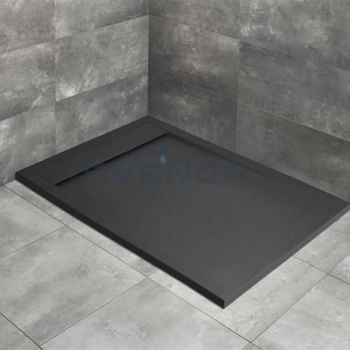 Radaway Teos F Anthracite kvadratinis lieto akmens dušo padėklas