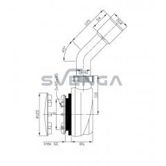Radaway R580 dušo sifonas