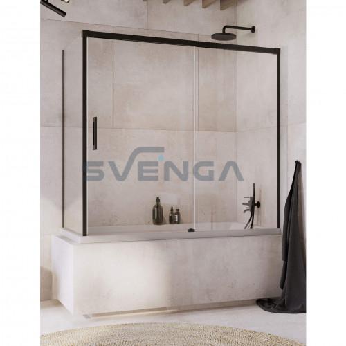 Radaway Idea Black PN DWJ+S vonios sienelė