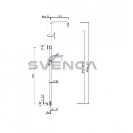 Giulini 5813KBXCH potinkinė dušo sistema