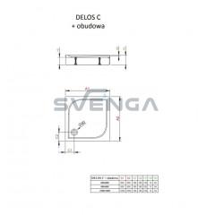 Radaway Delos C kvadratinis akrilinis dušo padėklas su uždanga