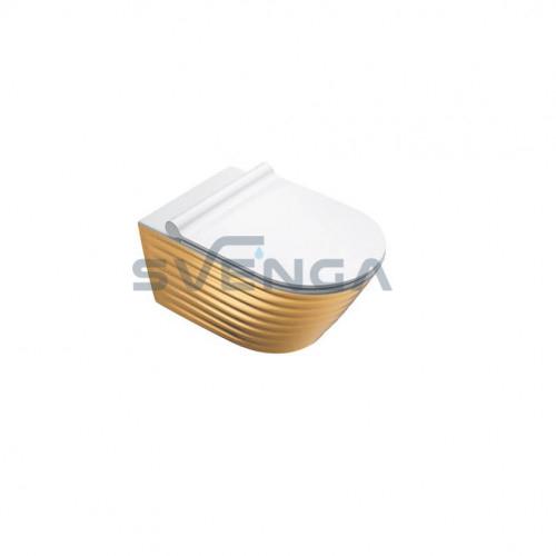 Catalano Gold&Silver Classy NF 55 pakabinamas klozetas, baltos/aukso sp.