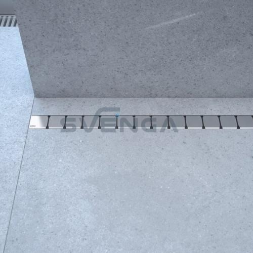 Ravak 10 dušo latakas su nerūdijančio plieno grotelėmis