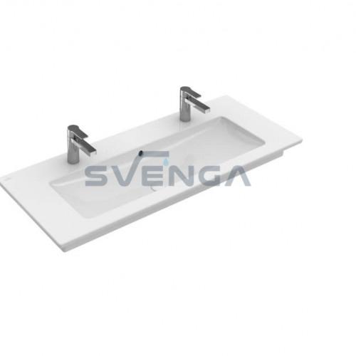 Villeroy & Boch Venticello 1200x500 baldinis/pakabinamas praustuvas su dvejomis skylėmis maišytuvui