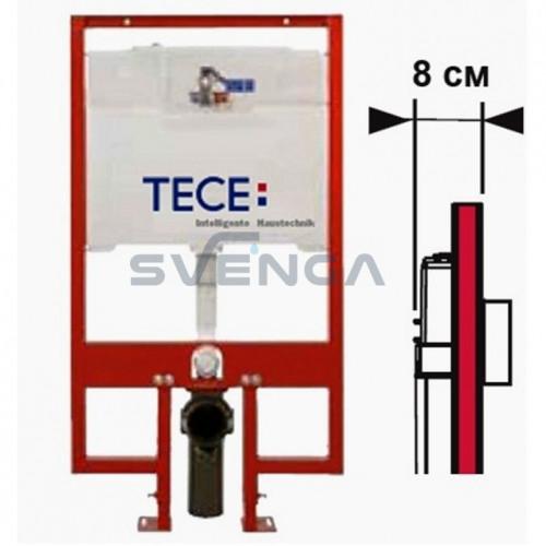 TECE 8cm plonas potinkinis klozeto rėmas