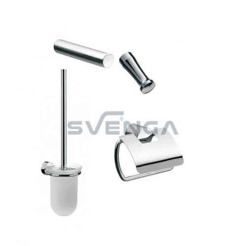 Emco RONDO 2 vonios aksesuarų komplektas 4 dalių