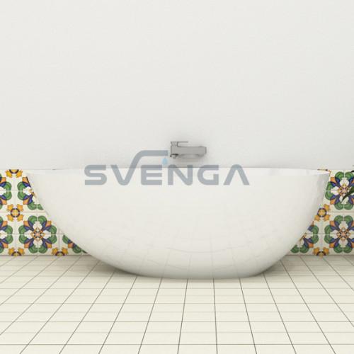 Blu Olivia 1700x850mm lieto akmens vonia