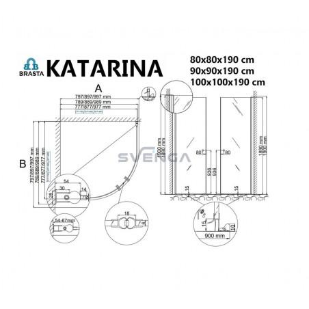 Baltijos Brasta Katarina dušo kabina