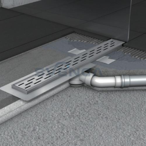 ACO ShowerDrain B dušo latakas su 360° pasukamu trapu ir horizontalia junge