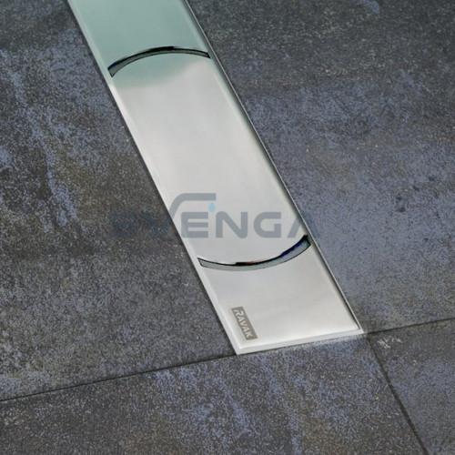 Ravak Chrome dušo latakas su nerūdijančio plieno grotelėmis
