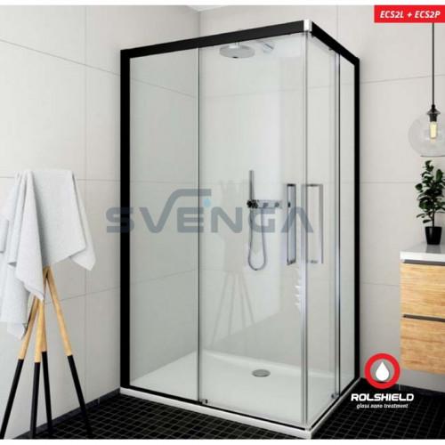 Roltechnik ECS2L+ECS2P kvadratinė dušo kabina su slankiojančiomis durimis.