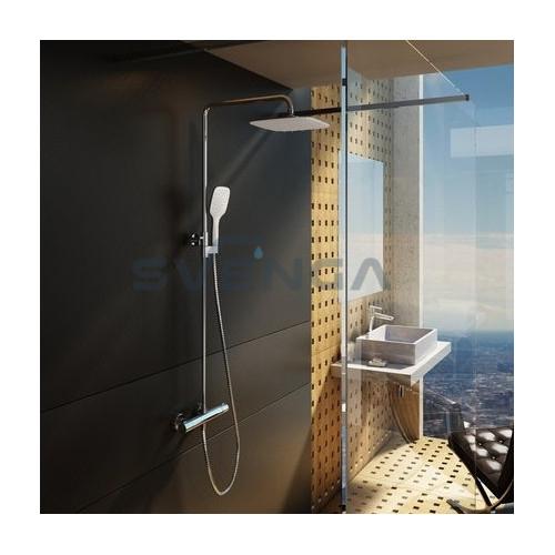 Ravak Termo 300 termostatinė virštinkinė dušo sistema su dušo galva 25x25