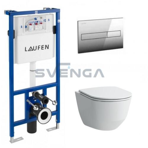 Laufen LIS CW1 potinkinis rėmas su pakabinamu klozetu Laufen Pro New ir plonu lėtaeigiu dangčiu