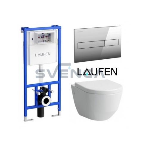 Laufen LIS CW1 potinkinis rėmas su pakabinamu klozetu Laufen Pro New ir lėtaeigiu dangčiu