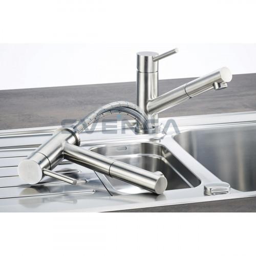 Franke Taros Window virtuvinis maišytuvas su ištraukiama žarna