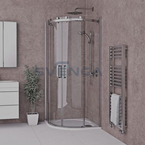 Roltechnik AMR2N pusapvalė dušo kabina su dviem slankiojančiomis durimis