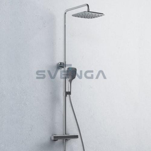 Ravak 10° termostatinė virštinkinė dušo sistema su dušo galva 25x25