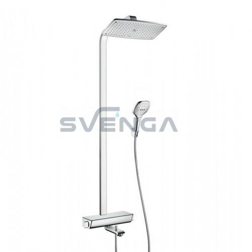 Hansgrohe Raindance Select E 360 1-os padėties termostatinė dušo sistema su snapu
