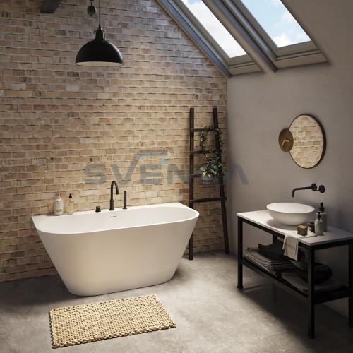 PAA Deco Rim balta matinė laisvai pastatoma vonia 1660x815