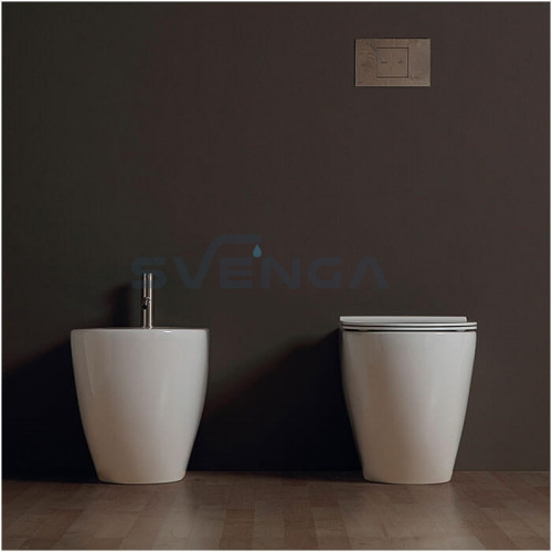Alice Ceramica Form Square Rimless 540x350 pastatoma bidė