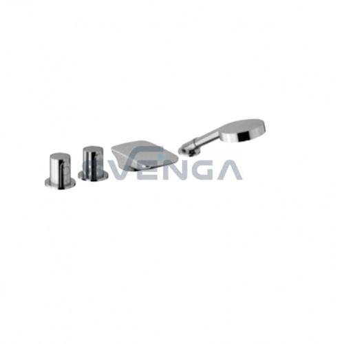 Alpi Glam GLT14D280851 įmontuojamas į vonios kraštą termostatinis maišytuvas su kriokliuku 4 dalių
