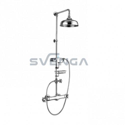 Alpi London LO41RM1151 termostatinė dušo sistema su metaline dušo galva 200x200 mm