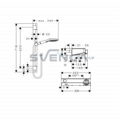 Hansgrohe Tablet Select 300 termostatinis dušo komplektas